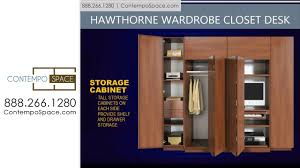 home office in a closet. Hawthorne Wardrobe Closet Desk - Instant Home Office | Item #: 8770 YouTube In A O