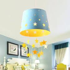 star lighting pendants kids pendant lighting modern 1 light adorable pierced star blue pink hanging drum