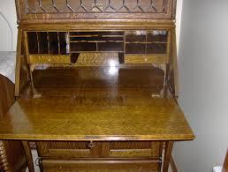 globe wernicke drop front desk with legs quarter sawn oak