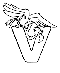 Printables alphabet v coloring sheets. Vulture Coloring Pages Coloring Home