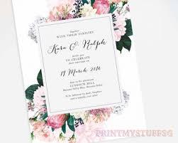 Wedding Card Customised Wedding Day Invitation Invite Insert Card