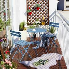 View in gallery Grand Patio Steel 3-piece Outdoor Folding Bistro Table Set  Classic balcony ...