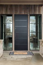 Modern Entry Door Design Promontory Project Great Room Kitchen Mountain Home