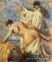 woman leaving her bath paintings by edgar degas portrait art high quality hand painted