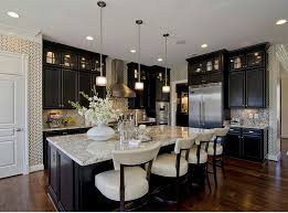 Perfect Black Kitchen Cabinets With White Marble Countertops Ebony Stained For Creativity Ideas