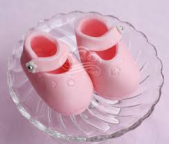 Pink Fondant Baby Bootie Cake Toppers Dream A Lil Dream