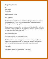 Letter Of Complaints Sample 7 8 Formal Letter Complaint Resumetablet