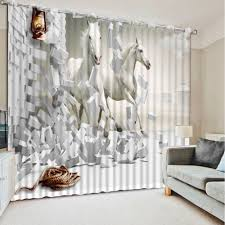 Living Room Window Curtains Online Get Cheap Horse Curtains Aliexpresscom Alibaba Group
