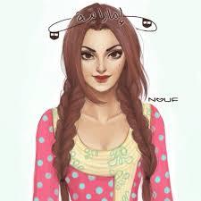 Emirati girl sketch | Girl sketch, Pics for dp, Girl drawing