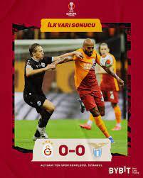 "Galatasaray SK on Twitter: ""İlk yarı sonucu: Galatasaray 0 - 0 Lazio  #GSvLazio #UEL |"