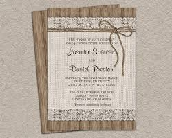 burlap engagement party invitations burlap country wedding invitations blue lace wedding invitations