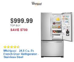 whirlpool french door refrigerator black. whirlpool - 24.8 cu. ft. french door refrigerator stainless-steel black