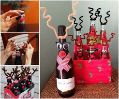 Decorate Wine Bottle Gift Wonderful DIY Reindeer Wine Beer Bottle for Christmas Gift 2