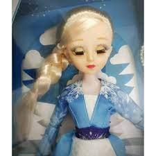 Búp bê nữ hoàng băng giá Frozen Elsa cao 37cm mắt ngọc nhắm - mở có khớp  tay chân mặc váy bông tuyết lấp lánh