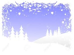 Abstract Grunge Winter Background Scene With Snowy Christmas ...