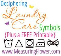 Deciphering Laundry Care Symbols Plus A Free Printable