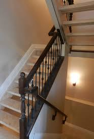 Metal handrails for stairs Steps One Of Our Railing Systems Daves Railings Staircase Railing Spruce Grove Handrails For Stairs Edmonton