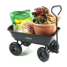 garden cart lowes. Garden Wagon Lowes Dump Gorilla Cart Yard Utility Wheelbarrow Lawn Trailer Heavy Duty .