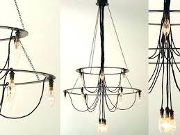 plug chandelier outdoor