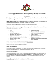 4 Unity In Diversity Equal Opportunities And Diversity
