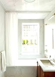 bathroom window and shower curtain sets window curtain for shower ceiling hung shower curtain window bathtub