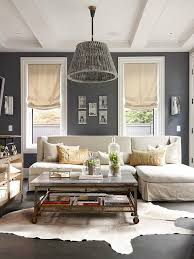 living room with dark dramatic walls