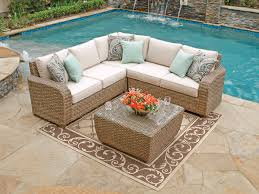Remarkable Patio Sectional Furniture Biscayne Sectional Resin