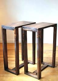 narrow end table tall narrow side table thin side table pair of thin side tables end