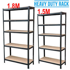 details about new 5 5 tier metal shelves unit shelving storage black tools garage garden diy