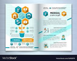 Design Medical Brochure Template A4 Size Catalog