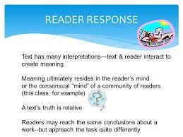 examples of reader response essays response background essay  reader response essay title