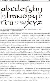Tetování Písmo švabach Abeceda