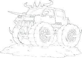 Monster Trucks Grave Digger Coloring Pages Truck Page Of Jam