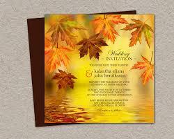 diy printable fall wedding invitation falling leaves wedding Printable Autumn Wedding Invitations like this item? printable autumn wedding invitations