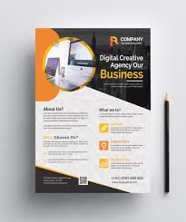 How To Make A Digital Flyer Creative Print Flyer Design 002451 Template Catalog