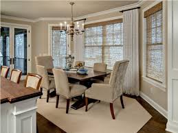 Dining Room Bay Window Treatments Curtains For Dining Room Bay - Bay window in dining room