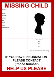 Missing Child Poster Template Free Missing Child template Templates at allbusinesstemplates 1