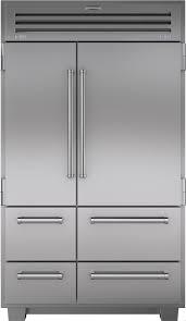 48 inch counter depth refrigerator. Unique Counter SubZero 648PRO 48 Inch Builtin SidebySide Refrigerator With 184 Cu Ftu2026 Throughout Counter Depth L