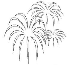 Small Picture Palm Tree Shaped Fireworks Coloring Page Download Print Online