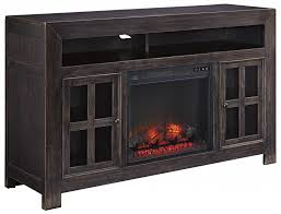 ashley electric fireplace awesome distressed black large tv stand with electric fireplace unit by