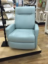 Light Blue Reclining Sofa Home Goods Leather Recliner In Light Blue Living Room