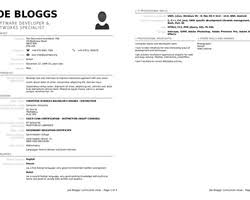 Download Resume Template Libreoffice | Haadyaooverbayresort in Libreoffice  Resume Template 3907