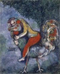 marc chagall el gallo 1928 Óleo sobre lienzo 81 x 65 5 cm museo