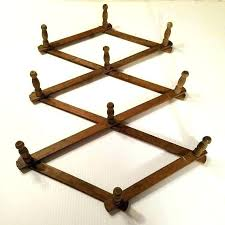 accordion coat rack accordion wall rack rustic wall hooks vintage wooden pegs accordion wall hooks wooden accordion coat rack