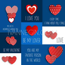 Valentine Set Of Stickers In The Shape Of A Heart To Celebrate