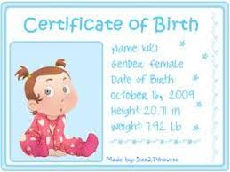 How To Make A Birth Certificate Birth Certificates Shannengriffiths Babydow Services