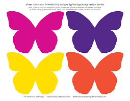 Butterfly Cutouts Template Printable Flower Templates To Cut Out Download Them Or Print