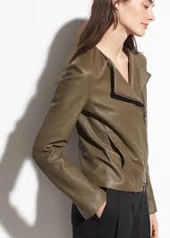vince multicolor cross front leather jacket lyst view fullscreen