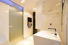 architecture glass room divider modern bathroom city apartment design with white interior color decorating lighting apartment lighting ideas