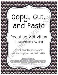 Copy Cut And Paste Practice Exercises In Word From Miss Kays